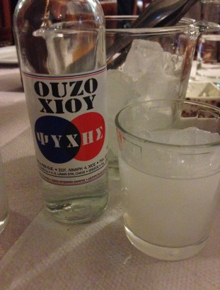 Ouzo Psyhis at Bahari in Karfas, Chios, Greece