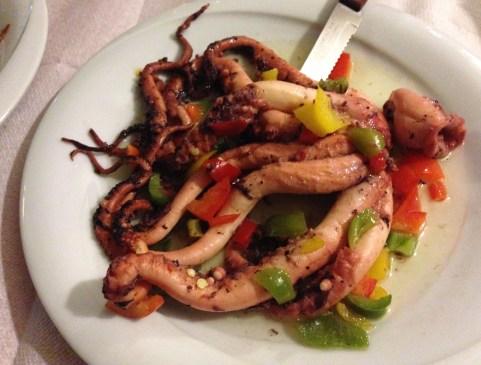 Octopus at Bahari in Karfas, Chios, Greece
