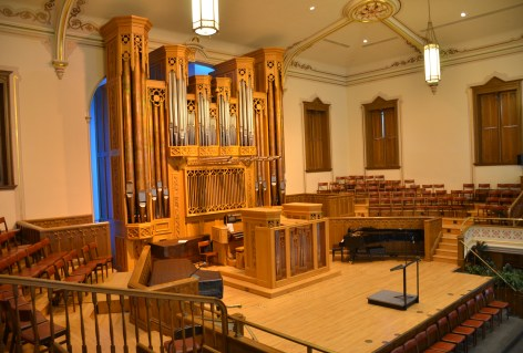 Assembly Hall at Temple Square in Salt Lake City, Utah