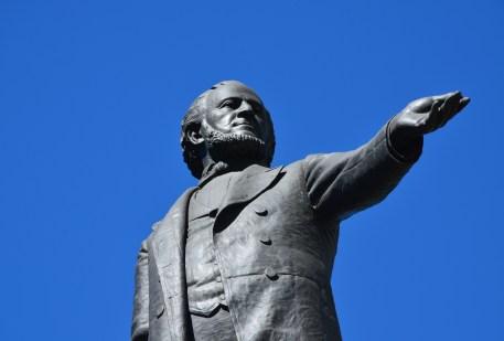 Brigham Young monument at Temple Square in Salt Lake City, Utah