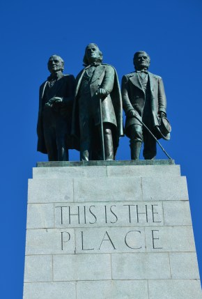 Brigham Young on the This Is the Place Monument in Salt Lake City, Utah