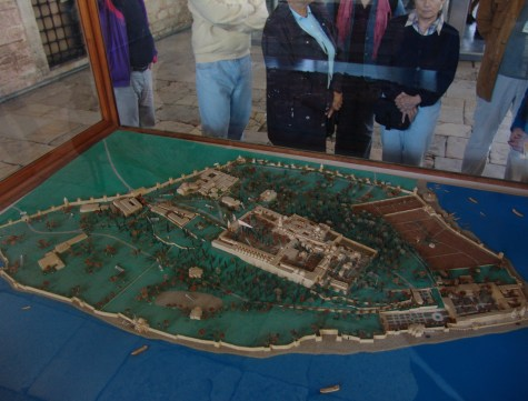A model of the palace at Topkapı Sarayı in Istanbul, Turkey