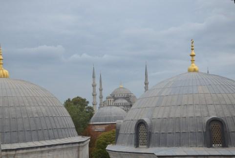 View of Sultan Ahmet Camii (Blue Mosque) at Hagia Sophia in Istanbul, Turkey