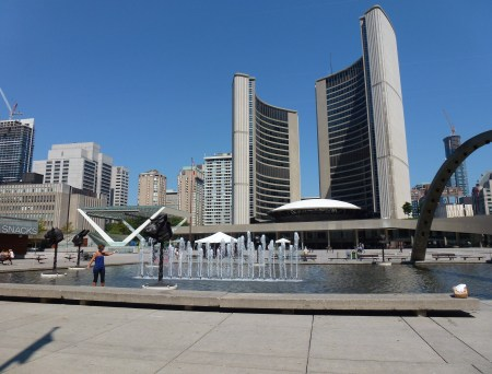 City Hall on Nathan Phillips Square in Toronto, Ontario, Canada