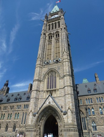 Peace Tower of Centre Block at Parliament Hill in Ottawa, Ontario, Canada