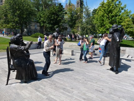 Statues at Parliament Hill in Ottawa, Ontario, Canada