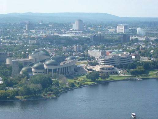 Gatineau from the Peace Tower of Centre Block at Parliament Hill in Ottawa, Ontario, Canada
