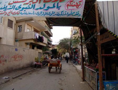 Riding through Giza, Egypt