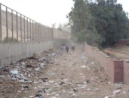 A river of garbage in Giza, Egypt