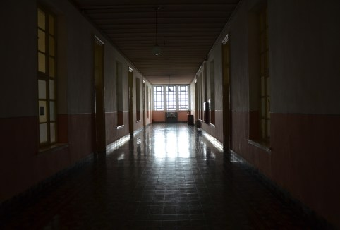 Hallway at Halki Seminary on Heybeliada, Princes' Islands, Istanbul, Turkey