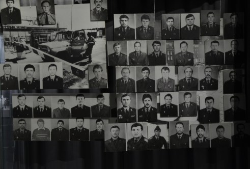 First responders at the Chernobyl Museum in Kiev, Ukraine