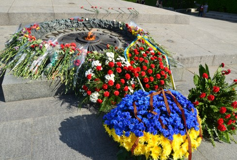 Tomb of the Unknown Soldier at Slavy Park in Kiev, Ukraine