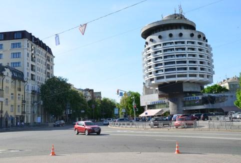 Slavy Square in Kiev, Ukraine