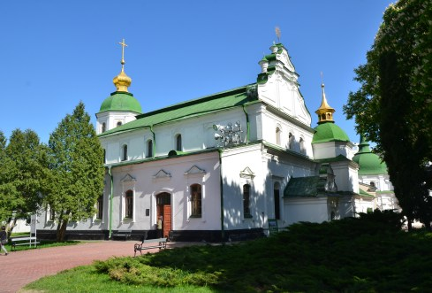 Refectory Church at St. Sophia Cathedral complex in Kiev, Ukraine