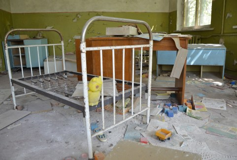 Kopachi Kindergarten in Chernobyl Exclusion Zone, Ukraine
