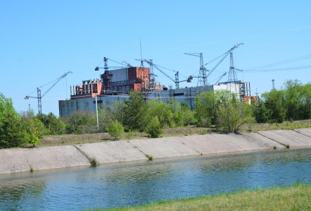 Unfinished Reactor #5 at Chernobyl Nuclear Power Plant in Chernobyl Exclusion Zone, Ukraine