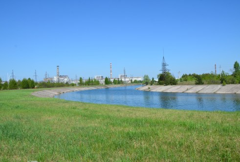 Chernobyl Nuclear Power Plant in Chernobyl Exclusion Zone, Ukraine