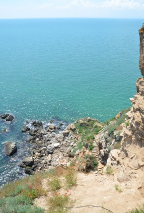 The end of the cape at Kaliakra, Bulgaria