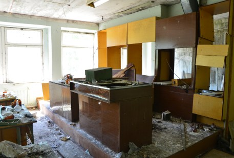 Science lab at Middle School #5 in Pripyat, Chernobyl Exclusion Zone, Ukraine