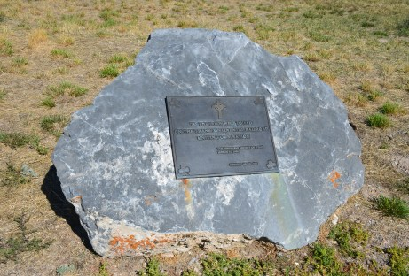 Memorial to Irish workers at Golden Spike National Historic Site, Promontory Summit, Utah