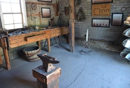 Blacksmith's workshop at Fielding Garr Ranch at Antelope Island State Park in Utah