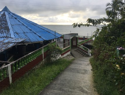 The path to the beach in Ladrilleros, Valle del Cauca, Colombia