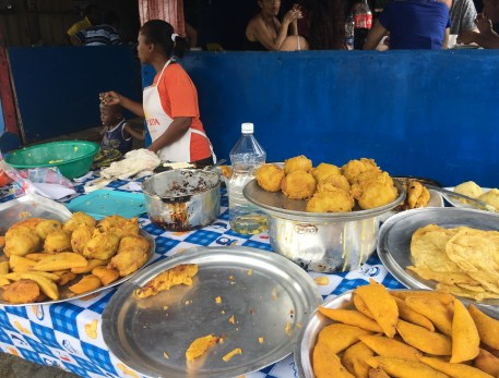 Street food in Juanchaco, Valle del Cauca, Colombia