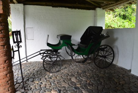 Carriage house at Hacienda Piedechinche at Museo de la Caña in Valle del Cauca, Colombia