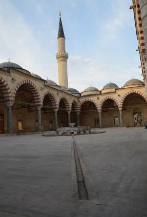 Courtyard at the Üç Şerefeli Camii in Edirne, Turkey