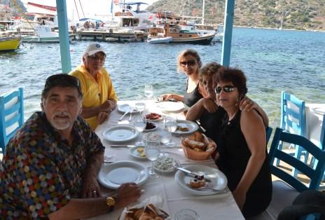 Relatives at Aquarium Restaurant in Gümüşlük, Turkey