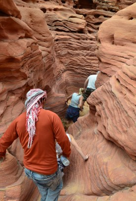 Fake Colored Canyon in Sinai, Egypt