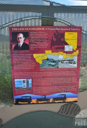 Lincoln Highway panel at the Schellbourne Rest Area in Nevada