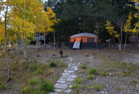 Wheeler Peak Campground at Great Basin National Park in Nevada