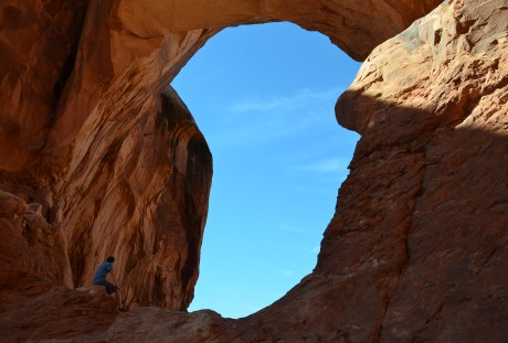 Double Arch at the Windows Section at Arches National Park in Utah