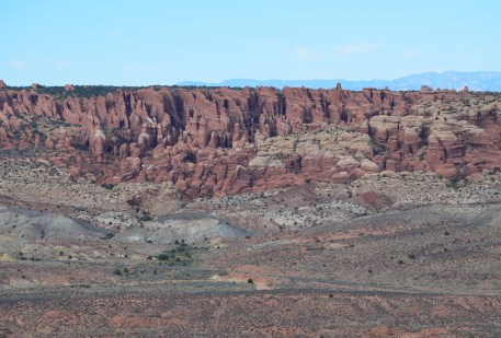 Fiery Furnace from Panorama Point at Arches National Park in Utah