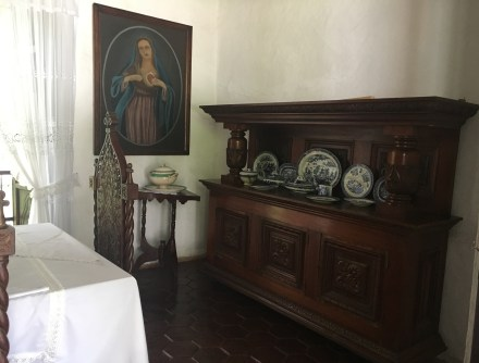 Dining room at Hacienda El Paraíso in Valle del Cauca, Colombia