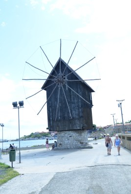 Windmill in Nesebur, Bulgaria