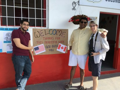The CCT team being welcomed at one of the schools in Belén de Umbría, Risaralda, Colombia