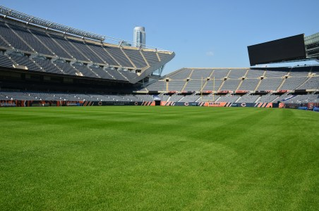 On the field at Soldier Field in Chicago, Illinois