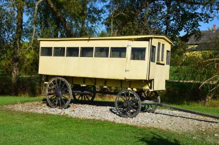 School bus wagon at Amish Acres in Nappanee, Indiana