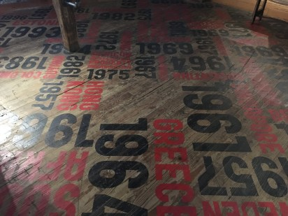 Floor of countries at Jim Beam American Stillhouse in Clermont, Kentucky