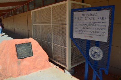 Historic marker at Valley of Fire State Park in Nevada