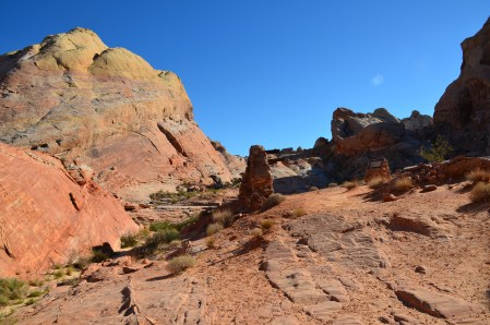Movie set on the White Domes Trail at Valley of Fire State Park in Nevada