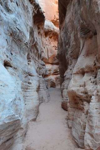 Middle of the Narrows on the White Domes Trail at Valley of Fire State Park in Nevada