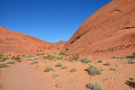 Last part of the trail on the White Domes Trail at Valley of Fire State Park in Nevada