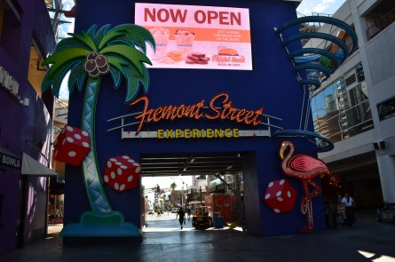 Sign for the Fremont Street Experience in Las Vegas, Nevada