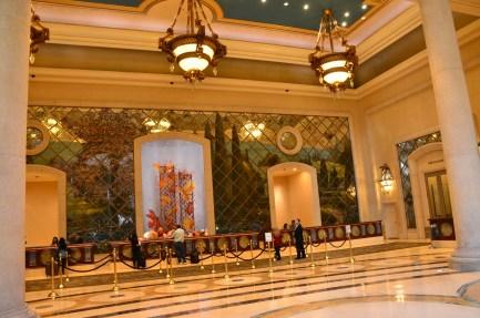 Lobby at the Palazzo in Las Vegas, Nevada
