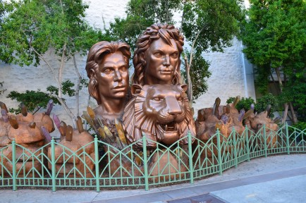 Siegfried and Roy monument at the Mirage in Las Vegas, Nevada