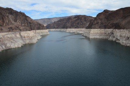 Lake Mead and the Colorado River at Hoover Dam in Nevada