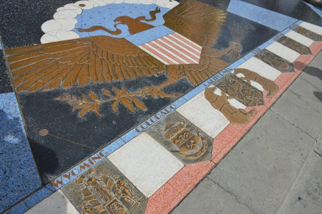 State seals at Hoover Dam in Nevada